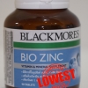 Blackmores Bio Zinc แบลคมอร์ส ไบโอ ซิงค์ 90 เม็ด ถูกสุด ส่งฟรี