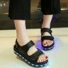 รองเท้ามีไฟ รองเท้า LED รองเท้าแตะมีไฟ สีดำ สินค้าพรีออเดอร์
