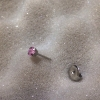 CZ 3x3mm Princess Cut Pink S/S (7512-0450)