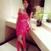 เช่าชุดไปงานแต่งงาน สีชมพูบานเย็น