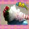 ช่อดอกกุหลาบสดสีแดง (ดอกใหญ่)