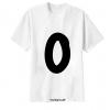 เสื้อยืด ตัวอักษร O