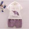 ชุดเด็ก เสื้อลายช้างกางเกงขาสั้น ยกแพ็ค 4 ชุด (ราคา 170 บาท/ชุด) ขนาด 90-120