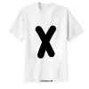 เสื้อยืด ตัวอักษร X