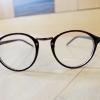 แว่นตาสีน้ำตาลเงา กรอบแว่นทรงหยดน้ำ เลนส์ใส