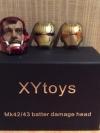 XYtoys Ironman Mark 42/43 Battle Damage Head หัวโทนี่ไอรอนแมน