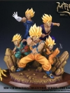 MRC 1/6 RESIN STATUE COLLECTIBLE - SSJ GOKU, VEGETA, GOHAN, TRUNK & GOTEN