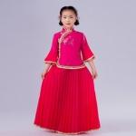 Pre-order ชุดอาเซียน / Size 130 / สีชมพูเข้ม