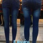 กางเกงยีนส์ สกินนี่ ขาเดฟ ผ้ายีนส์ยืด ผู้หญิง มี 4 สี ฟอกด่าง