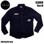 C3009 เสื้อลายสก๊อตสีเข้ม มีTag ติดเสื้อ