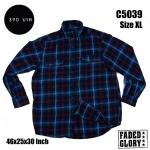 C5039 เสื้อลายสก๊อตผู้ชาย สีน้ำเงินเข้ม FADED GLORY