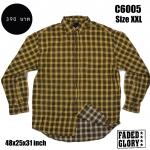C6005 เสื้อลายสก๊อตสีเหลือง ไซส์ใหญ่ FADED GLORY