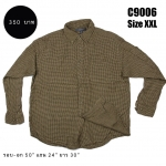 C9006 เสื้อเชิ้ตลายสก๊อต สีเหลือง ไซส์ใหญ่
