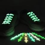 เชือกรองเท้าซิลิโคน เรืองแสงในความมืด