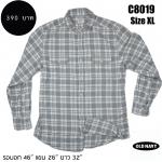 C8019 เสื้อลายสก๊อต ผู้ชาย สีเทา OLDNAVY