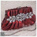 bs0013 กระเป๋าคลัช สีแดง กระเป๋าออกงานพร้อมส่ง ราคาถูกกว่าเช่า แบบสวยๆ ดูดีเหมือนดาราใช้