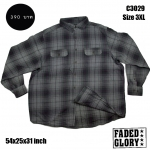 C3029 เสื้อลายสก๊อตสีเทาดำ FADED GLORY ไซด์ใหญ่