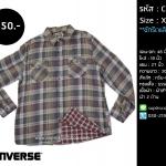 C115 เสื้อลายสก๊อต ผู้ชาย Converse ไซส์ใหญ่