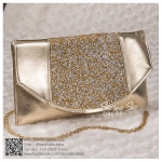 bs0019 กระเป๋าคลัช สีทอง กระเป๋าออกงานพร้อมส่ง ราคาถูกกว่าเช่า แบบสวยๆ ดูดีเหมือนดาราใช้