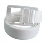 เข็มขัดเจลลี่ซิลิโคน(Silicone Jelly Belt)สีขาว