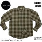 C8005 เสื้อลายสก๊อตผู้ชาย Arrow