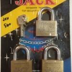 กุญแจทองเหลืองระบบลูกปืน Key Alike Jack