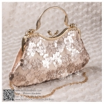 bs0014 กระเป๋าคลัช สีเบจ กระเป๋าออกงานพร้อมส่ง ราคาถูกกว่าเช่า แบบสวยๆ ดูดีเหมือนดาราใช้