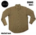C6043 เสื้อลายสก๊อตสีน้ำตาล
