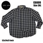 C6009 เสื้อลายสก๊อตผู้ชาย สีเข้ม ไซส์ใหญ่