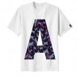 เสื้อยืด ตัวอักษร A