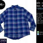 C1602 เสื้อลายสก๊อต ผู้ชาย สีน้ำเงิน เทา CHAPS