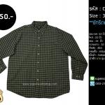 C2045 เสื้อเชิ้ต ลายสก๊อต ผู้ชาย สีเขียว Route 66