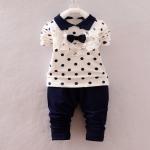 Pre-order ชุดเสื้อ+กางเกง / แพ็คละ 4 ตัว / Size 80-105 /สีดำ