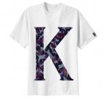 เสื้อยืด ลาย ตัวอักษร K