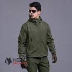 เสื้อแจ็คเก็ต Tactical กันน้ำ : สีเขียว Green รหัส JT003