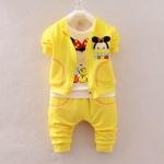 Pre-order ชุดเสื้อ+กางเกง / แพ็คละ 4 ตัว / Size S M L XL /สีเหลือง(สินค้าลิขสิทธิ์)
