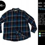 C1689 เสื้อลายสก๊อต สีน้ำเงิน ไซส์ใหญ่