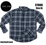 C7008 เสื้อลายสก๊อต ผู้ชาย สีเทา