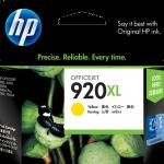 ตลับหมึกอิงค์เจ็ต ของแท้ HP 920XL Yellow สีเหลือง ราคา 540 บาท