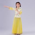 Pre-order ชุดอาเซียน / Size 130 / สีเหลือง