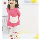 ชุดเด็ก เสื้อสีชมพูกางเกงสีขาว แพ็ค 5 ชุด (ราคา 150 บาท/ชุด) ขนาด 100-140