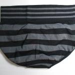 กางเกงในเอวสูง กางเกงในขอบใหญ่ L เส้นหนาทั้งตัว สีดำ
