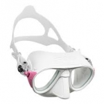 Cressi calibro mask สีขาวขอบชมพู