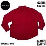 C3050 เสื้อเชิ้ตสีแดง FADED GLORY ไซด์ใหญ่มาก