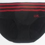 กางเกงในหญิง ลายเส้น Logo OK สีดำ