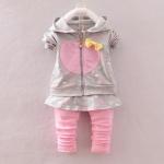 Pre-order ชุดเสื้อ+กางเกง / แพ็คละ 4 ตัว / Size 80-105 /สีเทา