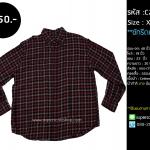 C2021 เสื้อลายสก๊อต ผู้ชาย สีแดงดำ ไซส์ใหญ่