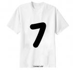 เสื้อยืด ตัวอักษร 7