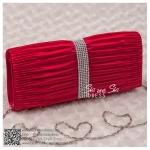 bs0001 กระเป๋าคลัช สีแดง กระเป๋าออกงานพร้อมส่ง ราคาถูกกว่าเช่า แบบสวยๆ ดูดีเหมือนดาราใช้ สำเนา สำเนา สำเนา