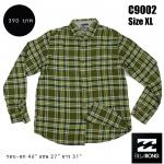 C9002 เสื้อลายสก๊อตผู้ชาย สีเขียว Billabong